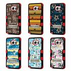 For Galaxy S7 Edge TUFF Hybrid Stand Rubber Hard Snap-on Case Red Black 5Colors