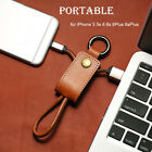 New Leather Keychain USB Sync Charging Cable Lead for Apple iPhone 2 Colors AU