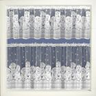 "BARKING DOGS CAFE NET CURTAIN WHITE LACE CURTAIN 15"" 24"" 36"" DROPS AVAILABLE"