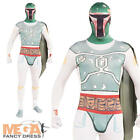 Star Wars Boba Fett 2nd Skin Mens Fancy Dress Lycra Bodysuit Adults Costume New