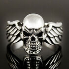 SKULL WITH WINGS RING STERLING SILVER 925