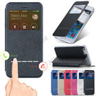 Smart View Window Slide Answer Flip Leather Case Hard Cover For Various Phones