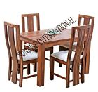 Solid wood 5 pcs Dining Set - 1  table + 4 cushioned chair set !