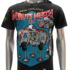 m257b Minute Mirth T-shirt M L Tattoo VTG Tin Toy Robot Battery Space Ship Rock