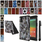 For ZTE ZMAX Z970 ShockProof HYBRID Silicone Rubber HARD Case Cover + Pen