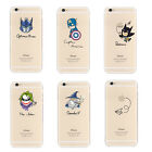 Cartoon Transparent Soft TPU Case Cover For iPhone 6s 6s Plus SE 5s 5