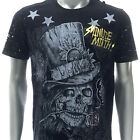 m346b Minute Mirth T-shirt S M L XL Tattoo VTG Skull Magician Ghost Devil Rose