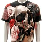 r186 Rock Eagle T-shirt Sz M L SPECIAL Tattoo Skull Soul Ghost Bloody Rose Men