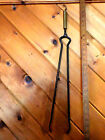 VINTAGE BRASS AND IRON FIREPLACE  TOOL 2 FINGER TONGS