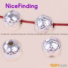 Tibetan Silver Carved Flower Amulet Spacer Jewelry Making Design Findings Beads