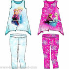 Disney Frozen T-Shirt Shirt Top Leggings Leggins Hose Eiskönigin Elsa 2 Teiler