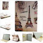 Retro Paris Eiffel Tower Magnetic Flip PU Leather Stand Case Cover For Tablets