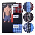 Tommy Hilfiger Mens Underwear Plaid Boxer Shorts 3 Pack Classic Woven Logo New