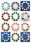 10Pcs Beautiful Mixed Gemstone Star Pendant Bead YSZ1030