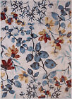 Contemporary Multi-Color Area Rug Modern Leaves Floral Abstract Outdoor Carpet
