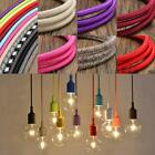 1/3/5/10M Vintage Colorful Twist Braided Fabric Cable Wire Electric Light Lamp
