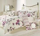 DUVET COVER QUILT SET CRANBERRY SAKURA Dreams n Drapes SINGLE DOUBLE KING