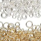 Lot of 100 Assorted Size & Gauge Open Ring Round Jewelry Jumprings in a Mix