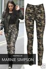 LADIES WOMENS CELEB INSPIRED CAMOUFLAGE HIGH WAISTED STRETCHY SKINNY JEAN UK6-16