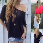 Casual Women Summer Loose Off Shoulder Blouse T-Shirt Top Vest Tee