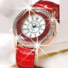 NEW Fashion Womens Leather Crystal Diamond Rhinestone Watches Quartz Wristwatch