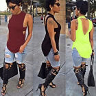 Fad Women Sexy Backless Tops Summer Sleeveless Casual Blouse Shirts T-shirts