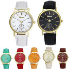 New Fashion Geneva Unisex Watches Leather Band Analog Women's Quartz Wrist Watch