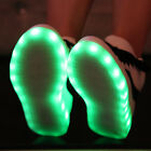 New LED Shiny Night Light 8 Colors Dancing Women Sneaker Shoes Lace Up Trainers