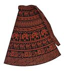 DEEP RED HIPPIE HIPPY BOHO COTTON FUNKY WRAP AROUND SKIRT DRESS 8 10 12 14 80CM