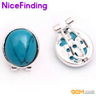 Fashion Jewelry 12x14mm Oval Beads Silver-Plated Stud Earrings For Girls' Gift
