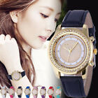 2016 Luxury Women Watch Geneva Leather Analog Stainless Steel Quartz Wrist Watch