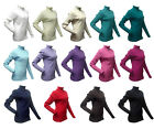 NEW LADIES RIBBED ROLL NECK POLO NECK LONG SLEEVE JUMPER 6-20
