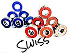608 RS RED or BLUE XTREME SWISS PREMIUM QUALITY ABEC 9 BEARINGS SKATEBOARD SKATE