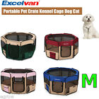 8 Panel Portable Puppy Dog Pet Cat Playpen Crate Cage Kennel Tent Play Pen M