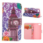 Purple London Tower Flip PU Leather Stand Magnetic Case Cover For Iphone 5 5S SE
