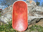 Wooden Dough Bowl Bread Trencher Hand Carved USA 0851 Red
