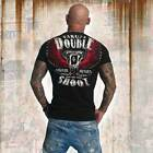 Neues Yakuza Herren Double Shoot T-Shirt - Schwarz