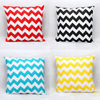 Hot 45cm x 45cm Stripe Home Decor Cotton Cushion Cover Pillow Case Zig Zag Wave
