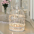 26CM SHABBY CHIC HOME ILLUMINATED METAL HEART BIRD CAGE WEDDING TABLE LED LIGHT