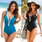 Women's One Piece Swimsuit Swimwear Bathing Monokini Push Up Padded Bikini B20E