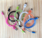 LED Glowing Lightning USB Charger Data Sync Noodle Cable for iphone 5 6plus