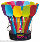 Kitchen Craft Colourworks 20cm Small Flexible Silicone Spatulas / Bowl Scrapers