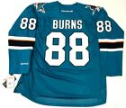 BRENT BURNS SAN JOSE SHARKS REEBOK NHL PREMIER TEAL JERSEY NEW WITH TAGS