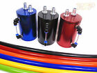 Oil Catch Tank Can With 19mm ID Silicone Hose Red Blue Green Black 1.8T 20V