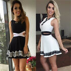 Hot Fashion Sexy Womens Summer Cocktail Party Evening Sleeveless Lace Mini Dress
