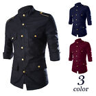 Stylish Men's Military Formal Slim Fit Dress Epaulet Shirts Casual Shirts Tops