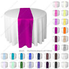 Red Black Purple silver white pink blue thick satin wedding table runner runners