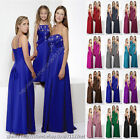 Maxi full Sequin bead wedding party prom evening bridesmaid dress gown ballgown