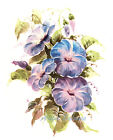 Ceramic Decals Purple Blue Morning Glory Floral Flower image