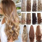 100% Natural New 3/4 Full Head Clip In Hair Extensions Straight Hair Remy Style